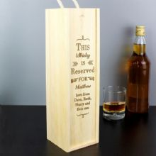 Personalised Reserved For Bottle Presentation Box P0111B03